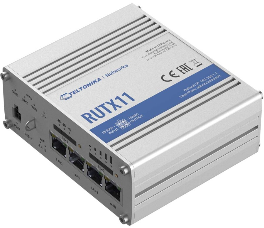Teltonika RUTX11 Industrial Cellular Router
